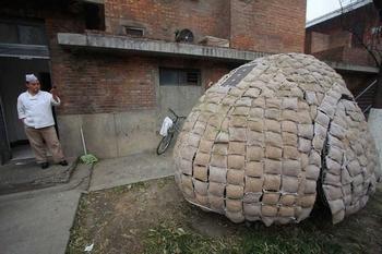 Дом-яйцо, в котором живёт Дай Хайфэй. Пекин. Фото с epochtimes.com