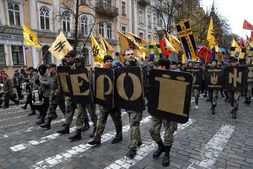 Марш за визнання Української Повстанської Армії пройшов центром Києва. Фото: Володимир Бородін/Велика Епоха