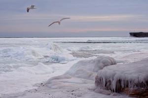Одесский залив Чёрного моря покрылся льдом