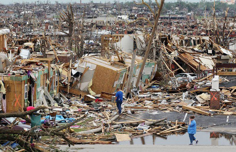 Зруйноване після торнадо місто Джоплін, штат Міссурі. Фото: Mario Tama/Getty Images