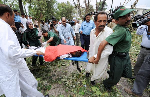Взрыв возле посольства Дании. Исламабад,Пакистан. Фото: Warrick Page/Getty Images