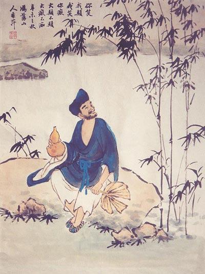 Традиційний живопис Китаю. Божевільний чернець Цзигун. Чжан Цуйїн