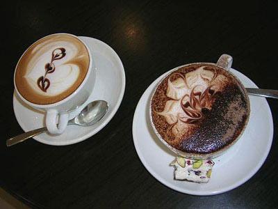 Малюнки на кавовій гущі. Фото з secretchina.com