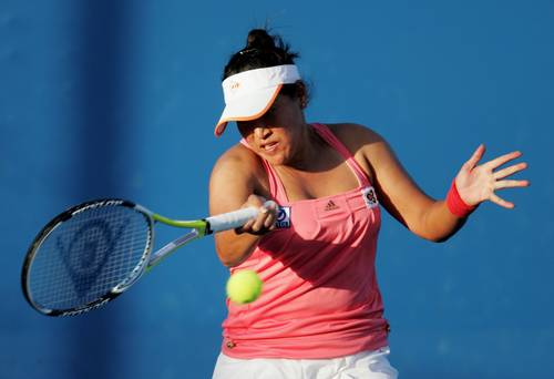 Тамарін Танасугарн (Таїланд) (Tamarine Tanasugarn of Thailand) під час відкритого чемпіонату Австралії з тенісу. Фото: Sandra Mu/Getty Images