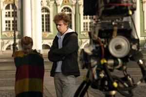 Екатерина Копанова и Владимир Крылов во время съёмок фильма. Фото: chudo-film.ru