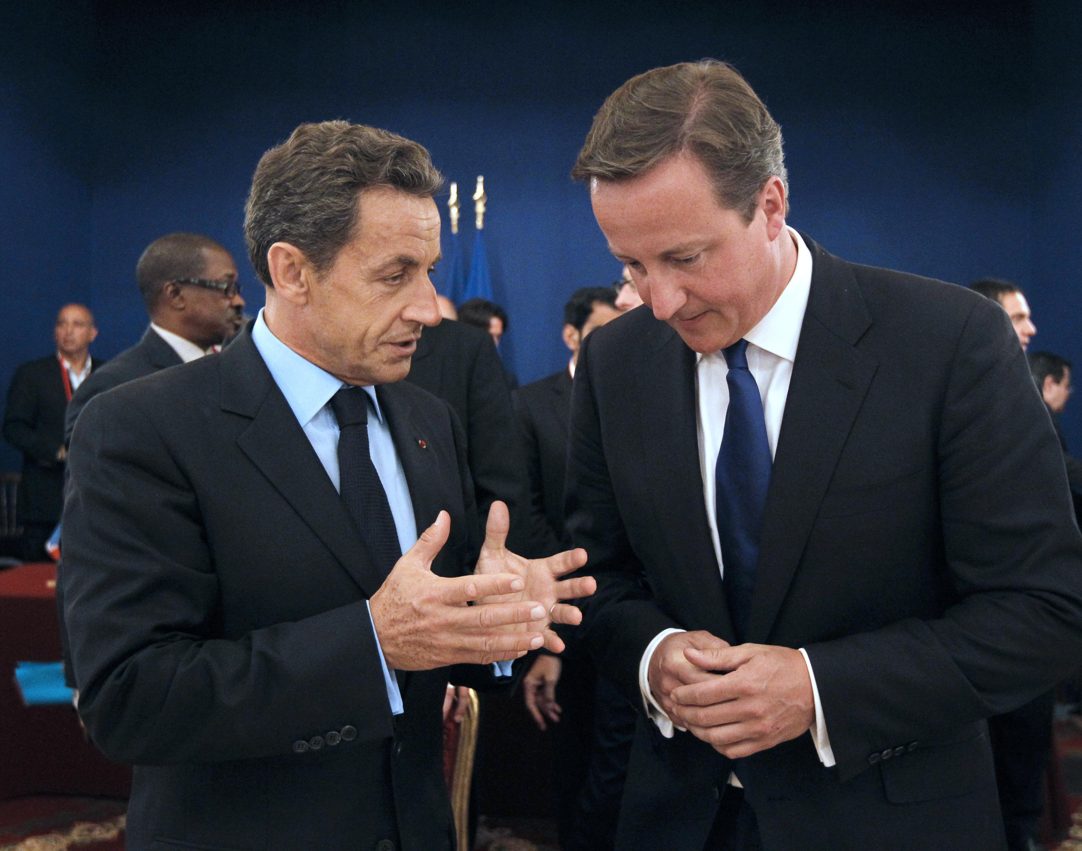 Николя Саркози и Дэвид Кэмерон