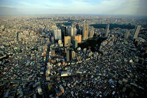 Район Shinjuku, Токіо, Японія.
