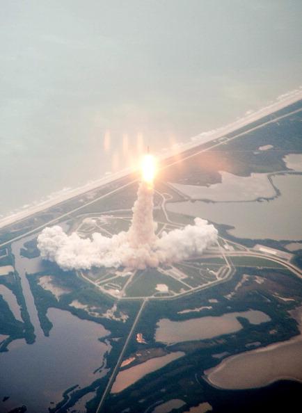 Старт шаттла «Атлантис». Фото: Dick Clark/NASA via Getty Images