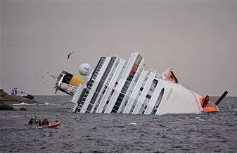 «Титаник-2»: У берегов Италии потерпел крушение лайнер «Costa Concordia»