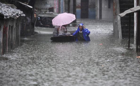 Наводнение в провинции Цзянси, Китай. Фото: ChinaFotoPress/Getty Images