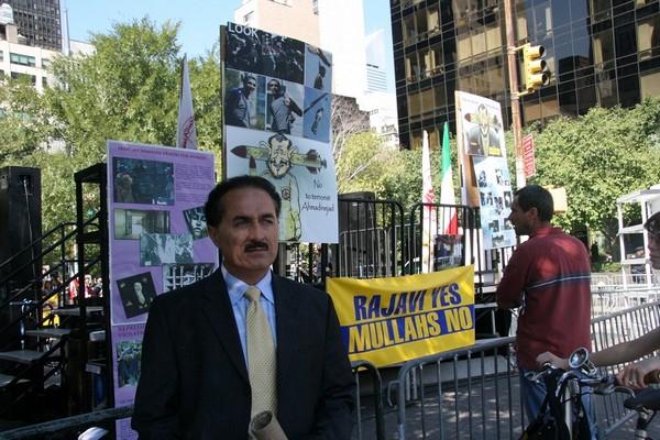 Лидер иранской организации против диктатуры Насер Рашиди. 23 сентября. Нью-Йорк. Фото: Даи Бин/ The Epoch Times