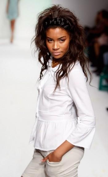 Колекція одягу сезону весна-2008 від Ecoganik на Тижні моди Mercedes-Benz Fashion Week у Калвер-Сіті (Каліфорнія). Фото: Mark Mainz/Getty Images for IMG