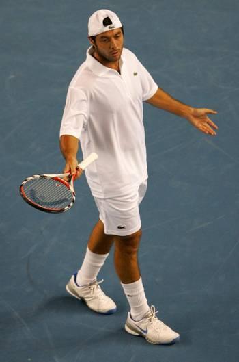 Себастьян Грожан (Франція) (French tennis player Sebastien Grosjean) під час Відкритого чемпіонату Австралії з тенісу в Мельбурні. Фото: PETER PARKS/AFP/Getty Images