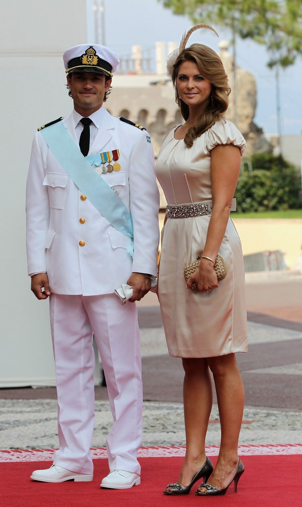 Принц Карл Філіп Швеції з дружиною принцесою Мадлен на весіллі князя Монако ІІ і Шарлін Уіттсток. Фото: Sean Gallup/Getty Images