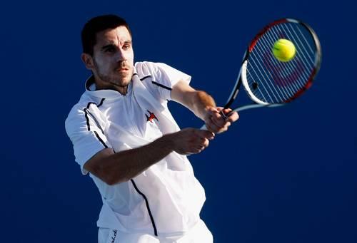 Роко Каранушич (Хорватія) (Roko Karanusic of Croatia) під час відкритого чемпіонату Австралії з тенісу. Фото: Quinn Rooney/Getty Images