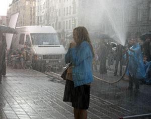 Екатерина Копанова во время съёмок фильма. Фото: chudo-film.ru