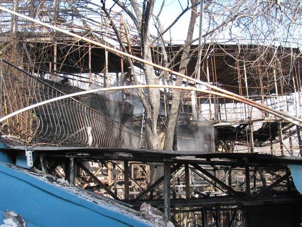 В Одессе загорелся ресторан-корабль. Фото: misto.odessa.ua