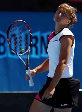 Сара Еррані (Італія) (Sara Errani of Italy) під час відкритого чемпіонату Австралії з тенісу. Фото: Mark Dadswell/Getty Images