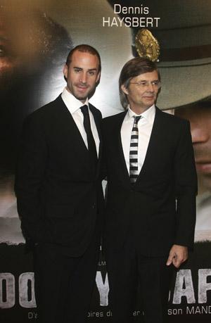 Режиссёр Билле Аугуст (Bille August) и актёр Джозеф Файнс (Joseph Fiennes) на премьере 'Goodbye Bafana' в Париже. Фото: Pascal Le Segretain/Getty Images