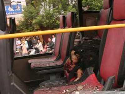 Место взрывов автобусов в г.Куньмин. Фото с epochtimes.com