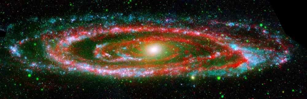 Галактика Андромеди. (NASA)