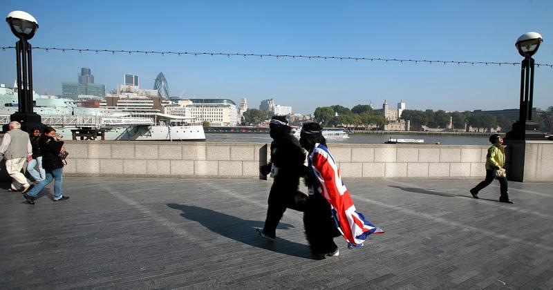 «Большой забег горилл» в Лондоне. Фото: Leon Neal/AFP/Getty Images