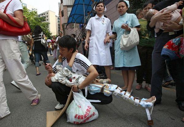 Провинция Сычуань после землетрясения. Фото: AFP