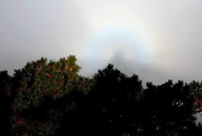 19 августа на горе Чанбайшань туристов поразило подобное явление «сияния Будды». Фото: Великая Эпоха