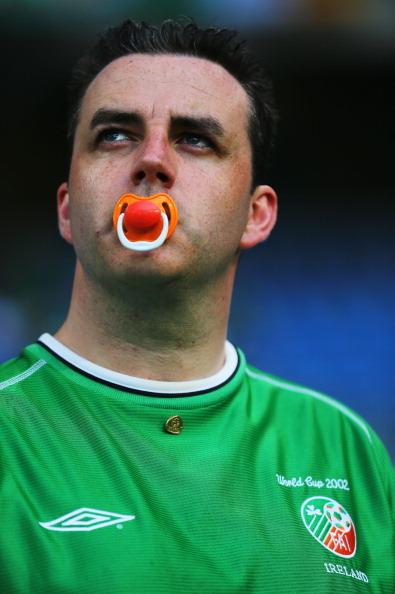 Ирландский фан во время матча между Италией и Ирландией 18 июня 2012 года в Познани, Польша. Фото: Christof Koepsel/Getty Images