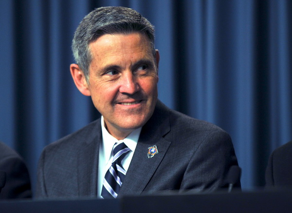 Боб Кабана, директор Космического центра им. Кеннеди. Фото: Roberto Gonzalez/Getty Images