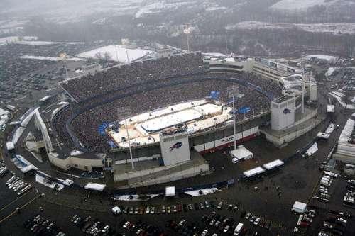 Під час матчу 'Баффало' - 'Пітсбург'. Фото: Claus Andersen/Getty Images for NHLI