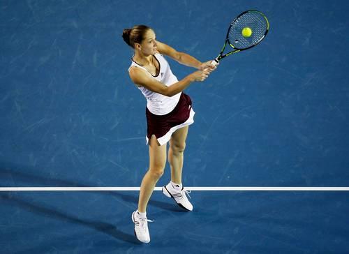 Ганна Чакветадзе (Росія) (Anna Chakvetadze of Russia) під час Відкритого чемпіонату Австралії з тенісу в Мельбурні. Фото: Quinn Rooney/Getty Images