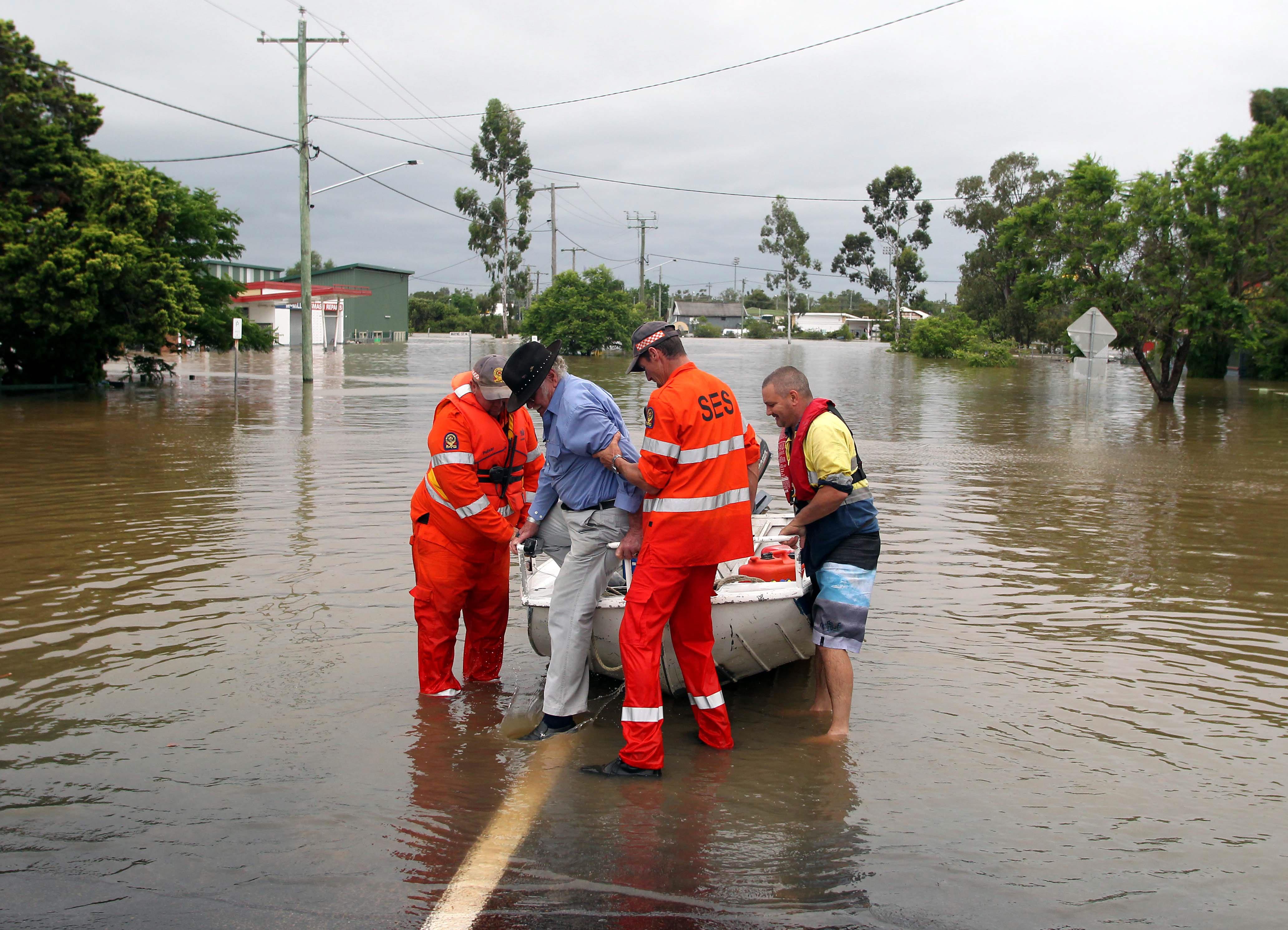 В Австралии в штате Квинсленд произошло наводнение