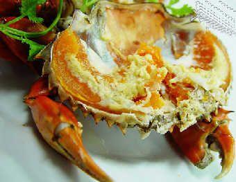 Приготований на парі краб. Фото з aboluowang.com