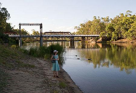 Марри-река в городе Свон Хилл. Фото: Сергей Ханцис