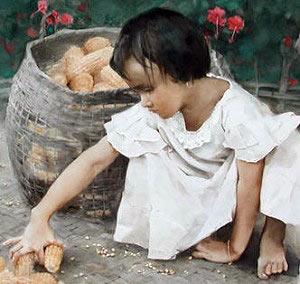 Акварель Гуань Вэйсина «Радость осени». Фото: Ambleside Gallery