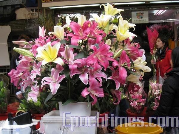 Квіти до Дня закоханих та китайського Нового року на ринку Гонконгу. 2010 рік. Фото: The Epoch Times