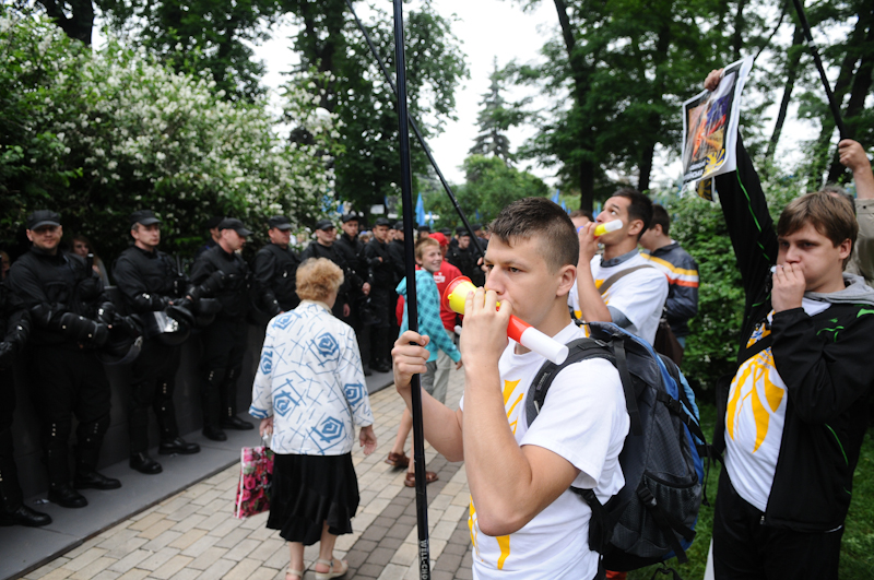 Протест против «языкового» законопроекта в Киеве. Владимир Бородин/EpochTimes.com.ua
