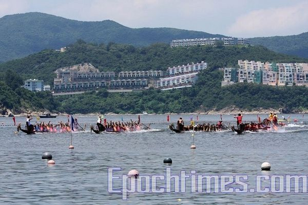 Перегони на човнах-драконах у Гонконзі. Фото: У Лянью/Тhe Epoch Times