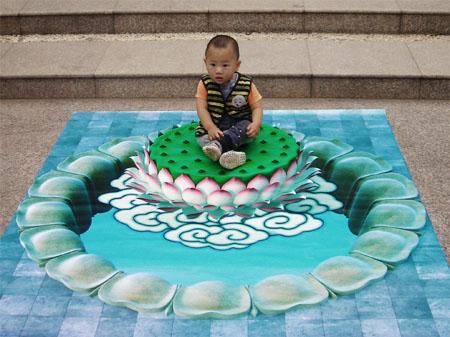 3D рисунки Хоу Чженфэна. Фото с kanzhongguo.com