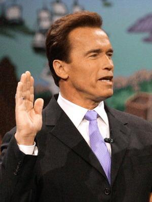Інавгурація переобраного губернатора Каліфорнії Арнольда Шварценегера. Фото: Pool/Getty Images News