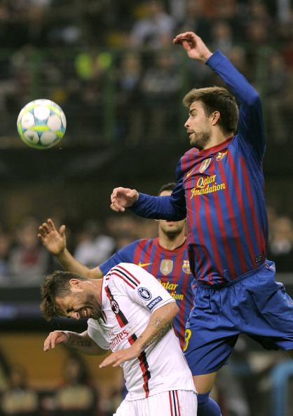 «Милан» – «Барселона» Фото: Claudio Villa, OLIVIER MORIN /Getty Images Sport