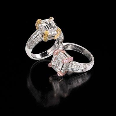Персні з кольоровими алмазами. Фото з epochtimes.com