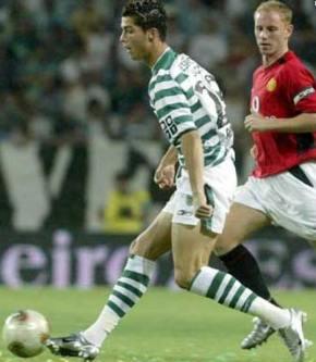 Кріштіану Роналду почав свою кар'єру в 2002 році в Спортингу (Лісабон). Фото: kpictiaho.narod.ru