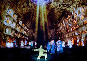У танці 'Сон Дуньхуана', скульптор отримує божественне натхнення, завдяки своїй чесноті. Фото: Велика Епоха