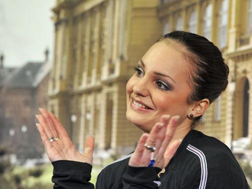 Сара Майер после объявления результатов. Фото: MLADEN ANTONOV/AFP/Getty Images