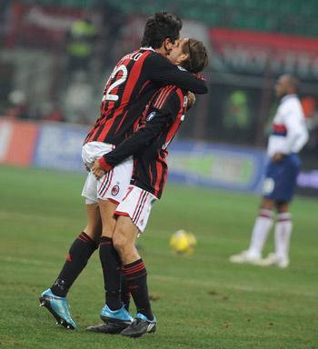 'Мілан' і 'Дженоа' на двох забили 7 м'ячів, 5 з яких були у воротах гостей. Фото: turnir.com.ua
