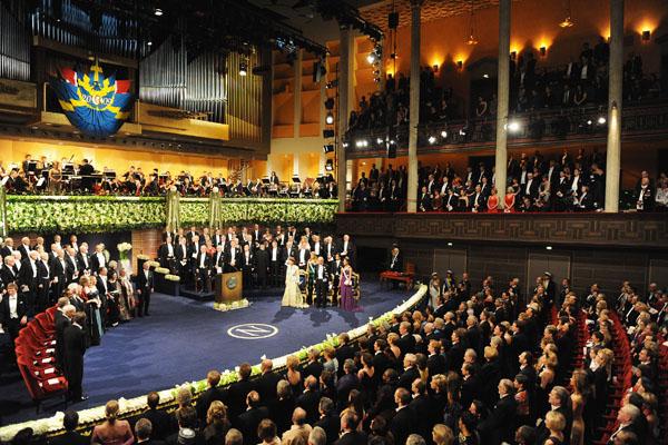 Церемония вручения Нобелевской премии мира, лауреатом которой в этом году признан президент США Барак Обама. Стокгольм, Швеция. Фото: Pascal Le Segretain/Getty Images