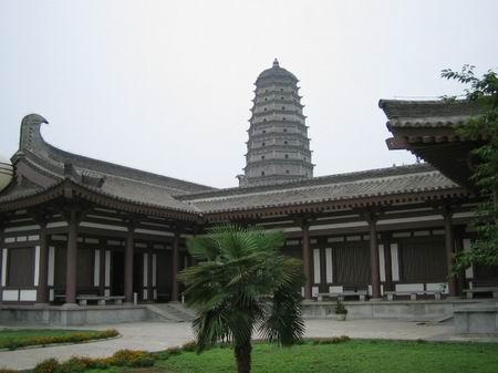 Современный храм Фамэнь. Провинция Шэньси. Фото с oyly.net