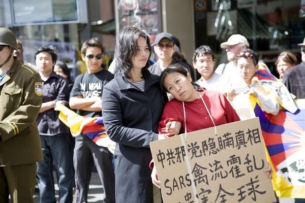 Сценическая постановка: Китайская компартия скрывала правду о широком распространении в стране атипичной пневмонии (SARS). Сидней. 26 сентября 2009 год. Фото: Ан На/The Epoch Times